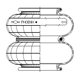 Phoenix double convolution rubber bellows only