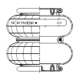Phoenix double convolution with metal parts