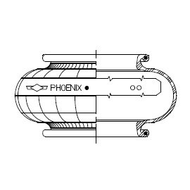 Phoenix single convolution rubber bellows only